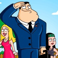 """AMERICAN DAD: From """"Family Guy"""" creator Seth MacFarlane comes the animated story of STAN SMITH, who works for the CIA and is constantly on the alert for terrorist activity. Stan will go to extremes to protect his beloved America from harm in the new FOX animated series AMERICAN DAD premiering Sunday, May 1 (9:30-10:00 PM ET/PT) on FOX. L-R: Rodger, Francine, Stan, Klaus, Hayley and Steve. ?©2005FOX BROADCASTING CR:FOX"""